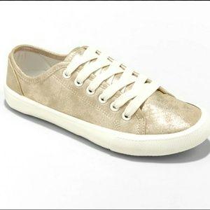 Universal Thread Gold Metallic Sneakers Size 11